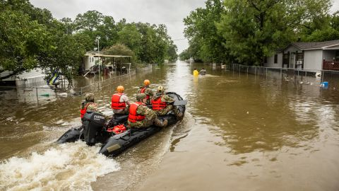 """When Harvey slammed the Texas coast and flooded much of Houston, <a href=""""https://www.cnn.com/interactive/2017/08/us/hurricane-harvey-cnnphotos/"""" target=""""_blank"""">volunteers sprang into action.</a> Some came from as far away as the Florida Everglades, boats in tow, ready to rescue people trapped in their homes."""
