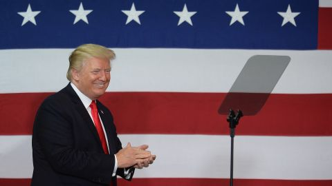 SPRINGFIELD, MO: U.S. President Donald Trump is received prior to remarks during an appearance at the Loren Cook Company on August 30, 2017 in Springfield Missouri. President Trump gave remarks on his plan on tax reforms. (Michael B. Thomas/Getty Images)