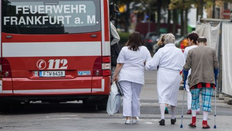 Patients of the Buergerhospital clinic were moved to another hospital.