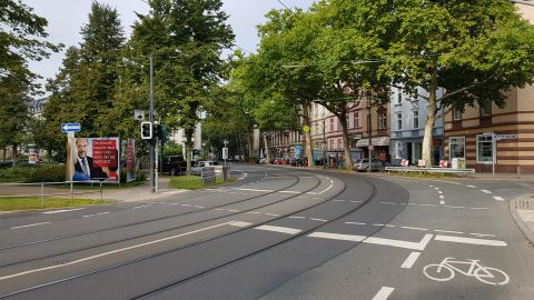 Some streets close to the evacuation zone looked deserted Sunday.