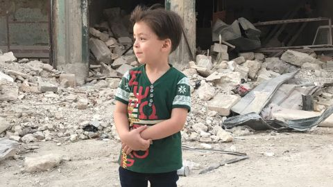 Omran Daqneesh a year after his home partly collapse in a strike.