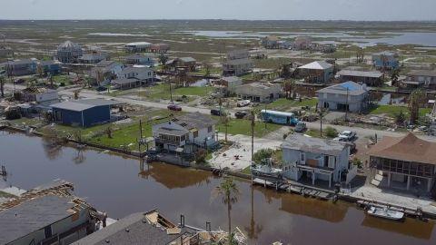 Holiday Beach, Texas suffered heavy destruction after Hurricane Harvey barreled through.