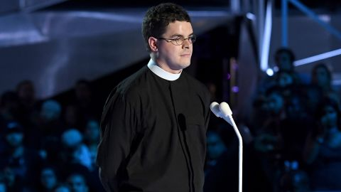 Robert Wright Lee IV speaks during the 2017 MTV Video Music Awards on August 27.