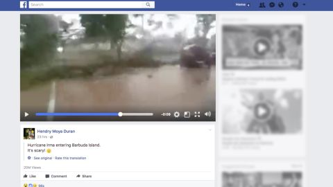 One video described as showing the effects of Hurricane Irma had more than 20 million views