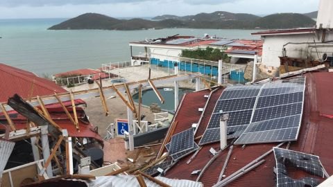 Bluebeard's Castle, a resort in St. Thomas, was hit hard by Irma. St. Thomas resident David Velez sent this photo to CNN on September 7.