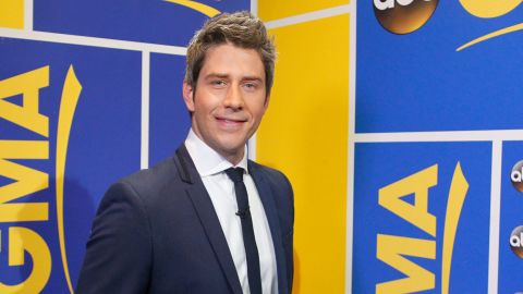 """Arie Luyendyk Jr. is announced as the new star of ABC's """"The Bachelor"""" on """"Good Morning America,"""" on Thursday, September 7 ABC Television Network."""