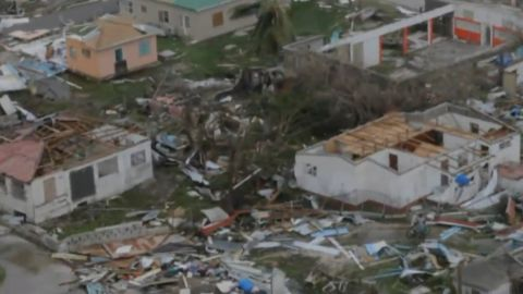 The Prime Minister of Antigua and Barbuda says 95% of the Barbuda's buildings are damaged.