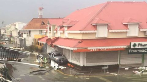 Picture shows the damages of Hurricane Irma, in St. Martin on September 6.