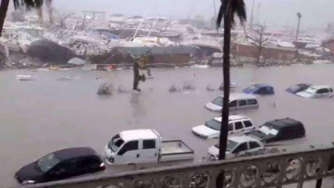 Hurricane Irma passage left damage in St. Martin on September 6.