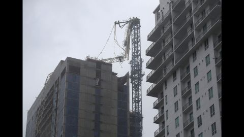 Part of this crane tower collapsed in Miami on September 10.