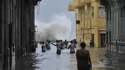 Hurricane Irma left flooding in its wake after hitting Cuba in September 2017.
