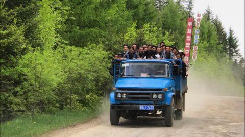 Public transportation in rural North Korea, near the Chinese border, taken on September 4.