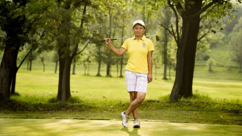 """Pratima Sherpa is photographed at the Royal Nepal Golf Club by <a href=""""http://www.montanostudio.com/"""" target=""""_blank"""" target=""""_blank"""">Michael Montano</a>."""