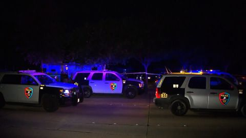 """Police at the scene in Plano, where the police chief said, """"We've never had a shooting of this magnitude."""""""