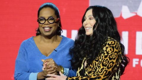 Oprah Winfrey and Cher attend 'Hand in Hand: A Benefit for Hurricane Relief.'