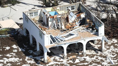 A home left in ruins Wednesday in Big Pine Key shows how the Florida Keys bore the brunt of Irma.