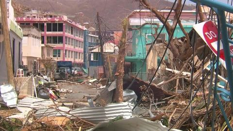 Much of the BVI was leveled by Irma, including buildings on the island of Tortola pictured here.