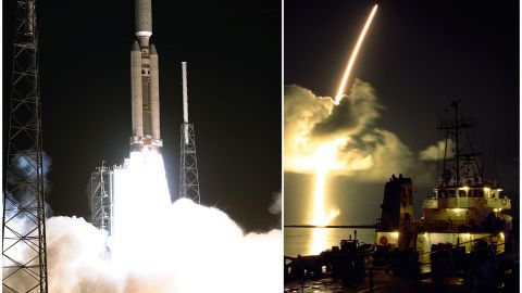 The Cassini spacecraft was launched from Cape Canaveral, Florida, on a Titan IVB/Centaur rocket on October 15, 1997. It began orbiting Saturn in 2004.