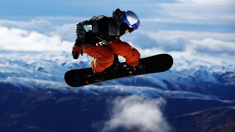 Toby Miller of USA competes during the Winter Games NZ FIS Men's Snowboard World Cup Halfpipe Finals at Cardrona Alpine Resort on September 8, 2017 in Cardrona, New Zealand.
