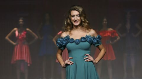 Itir Esen competes in the Miss Turkey 2017 contest Thursday in Istanbul.