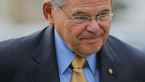 Sen. Robert Menendez (D-NJ) arrives at federal court for his trial on corruption charges on September 6, 2017 in Newark, New Jersey.   (Photo by Eduardo Munoz Alvarez/Getty Images)