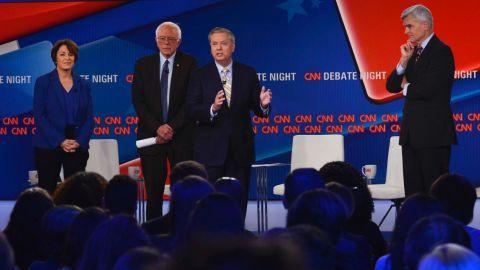 9/25/17, CNN, Washington, D.C. Sens. Bill Cassidy (R-La.), Lindsey Graham (R-S.C.), Amy Klobuchar (D-Minn.), and Bernie Sanders (I-Vt.) speak at a CNN townhall debate on healthca