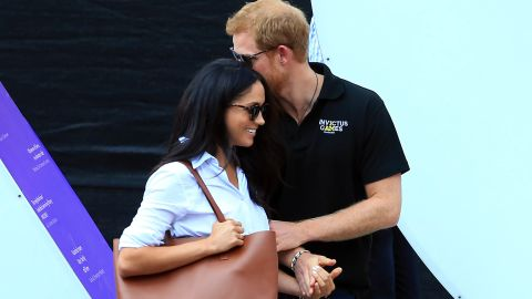 Markle and Prince Harry attend the Invictus Games in Toronto in September.