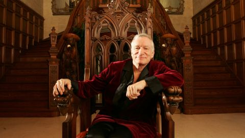 """<a href=""""http://money.cnn.com/2017/09/27/media/hugh-hefner/index.html"""" target=""""_blank"""">Hugh Hefner</a> -- the silk-robed Casanova whose Playboy magazine popularized the term """"centerfold,"""" glamorized an urbane bachelor lifestyle and helped spur the sexual revolution of the 1960s -- died September 27 at the age of 91, the magazine said."""