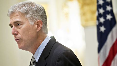 U.S. Supreme Court Justice Neil Gorsuch delivers remarks at the Fund for American Studies luncheon in Washington, D.C., on Thursday, Sept. 28, 2017.