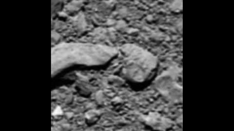 The Rosetta probe sent an unexpected final image back to Earth shortly before it made a controlled impact onto the surface of Comet 67P last September.