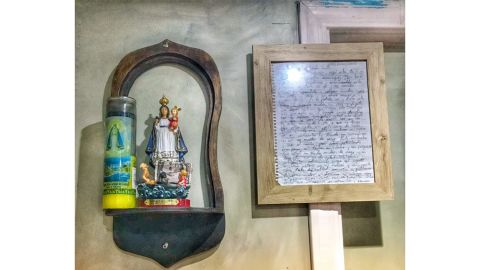 Hernandez framed Lynn's letter and has it on display at his restaurant, El Ambia Cubano.