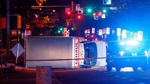 Police say the U-Haul intentionally swerved at pedestrians throughout the chase. Four were injured.