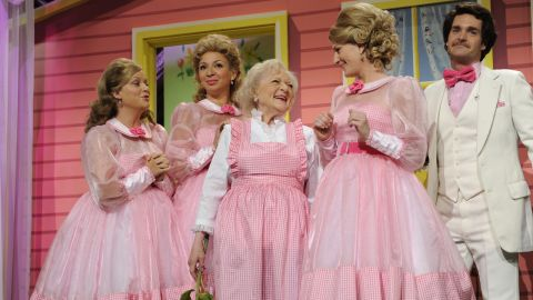 """White was a guest host on """"Saturday Night Live"""" in 2010. She won an Emmy for it. At the age of 88, she was the oldest person to host the show."""
