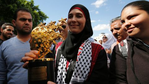 Palestinian teacher Hanan al-Hroub won the $1 million Global Teacher Prize in 2016 for her innovative approach in using play to counter violent behavior. Hroub grew up in a Palestinian refugee camp in Bethlehem and now teaches at a high school in the West Bank.