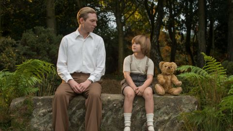 Domhnall Gleeson and Will Tilston in 'Goodbye Christopher Robin'