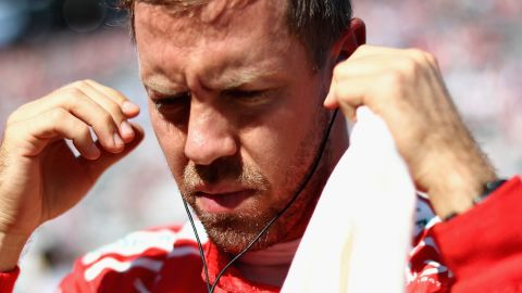 An early retirement has left Sebastian Vettel's title challenge in tatters as he trails Lewis Hamilton by 59 points.