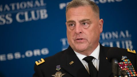 General Mark Milley, Chief of Staff of the U.S. Army, speaks at the National Press Club on July 27, 2017 in Washington, DC.