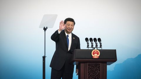 Chinese President Xi Jinping waves after a press conference at the BRICS Summit in Xiamen, Fujian province on September 5, 2017. Xi opened the annual summit of BRICS leaders that already has been upstaged by North Korea's latest nuclear weapons provocation. / AFP PHOTO / POOL        (Photo credit should read /AFP/Getty Images)