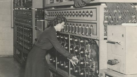Women ran the machines that attacked the German Enigma ciphers.