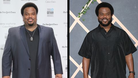 Actor Craig Robinson said in October 2017 that he lost 50 lbs. by giving up alcohol, working out and going vegan.