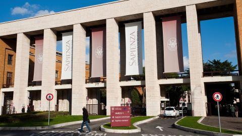 A file photo of La Sapienza University of Rome, in 2010.
