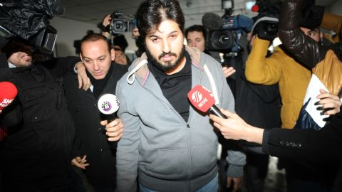 Reza Zarrab pictured at a police station in Istanbul in December 2013.