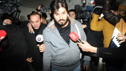 Reza Zarrab arrives at an Istanbul police station in 2013.