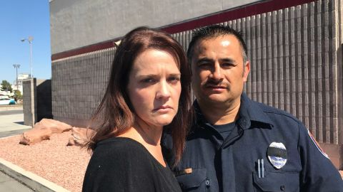 Debbie and Jesse Gomez. Clark County Firefighter Jesse Gomez was off-duty when the Las Vegas massacre began but he sprang into action, helping to rescue several people while bullets were still flying. His wife, Debbie, was with him at the concert. She ended up helping take a man shot in the back to the hospital. That man survived.
