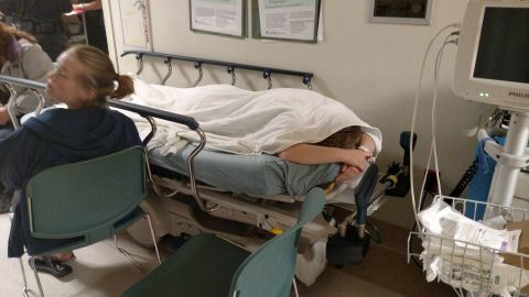 Lydia Steckelberg, 18, spent a week in the emergency room at a hospital near Sacramento, Calif., in May. Her family called 911 after Lydia began banging her head on the shower door at her family's Folsom, Calif., home and saying she wanted to die. (Courtesy of Shane Steckelberg)