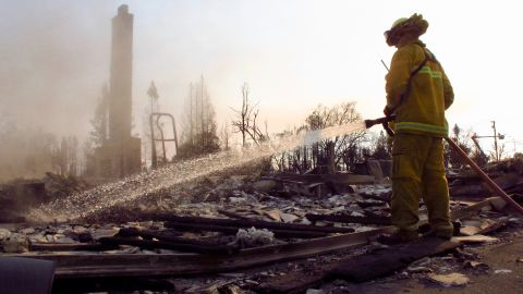 The aftermath of a deadly wildfire that burnt entire neighborhoods to the ground in Santa Rosa, California.