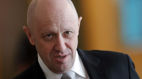 Concord Catering General Director Yevgeny Prigozhin seen after the sixth meeting of the High-Level Russian-Turkish Cooperation Council