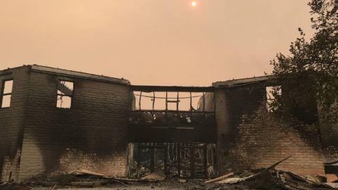 Sonoma County's Anova Center for Education after the wildfire