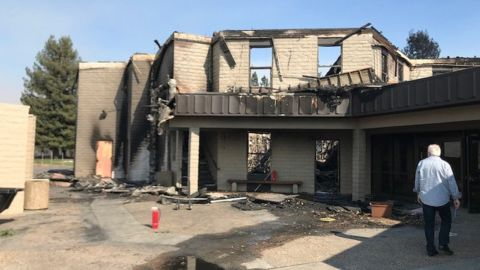 Sonoma County's Anova Center for Education after the North Bay wildfire.