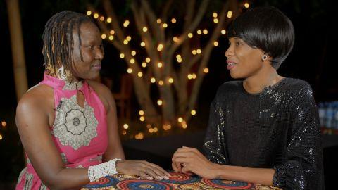 Katlego Kolanyane-Kesupile and Adong Judith at TED Global conference in Arusha, Tanzania